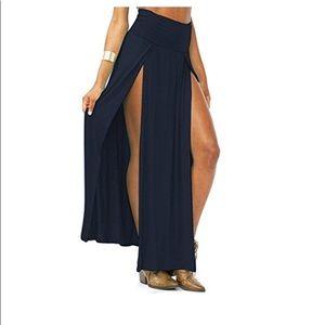 Dresses & Skirts - Side slit skirt maxi long beach cover up swim boho
